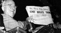 In 1948, the media thought that Republican presidential nominee Thomas E. Dewey had the election in the bag.  Rather stiff and pompous, the governor of New York and former district […]