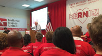"NURSES BLAST DNC ATTACK ON SANDERS CAMPAIGN WARN OF LONG-TERM CONSEQUENCES FOR NEXT NOVEMBER National Nurses United today condemned what it called ""the latest blatant effort by the Democratic National […]"