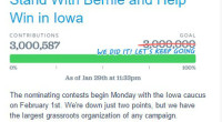 Vermont Senator Bernie Sanders has now passed the 3 Million mark in terms of individual contributions to his grassroots Presidential campaign.  See HERE Sanders instead has made American political history […]