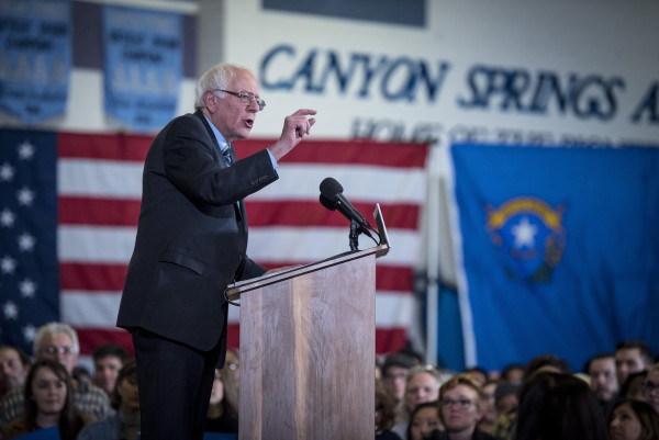 Candidate for the Democratic Presidential nomination, Senator Bernie Sanders holds events in Las Vegas, NV. Monday, December 28, 2015. Las Vegas, NV. Christopher Dilts /