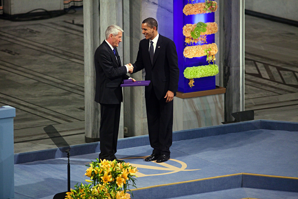President Obama recieves the Nobel Peace Prize Photo: MFA Norway/ Per Thrana Utenriksdepartementet UD