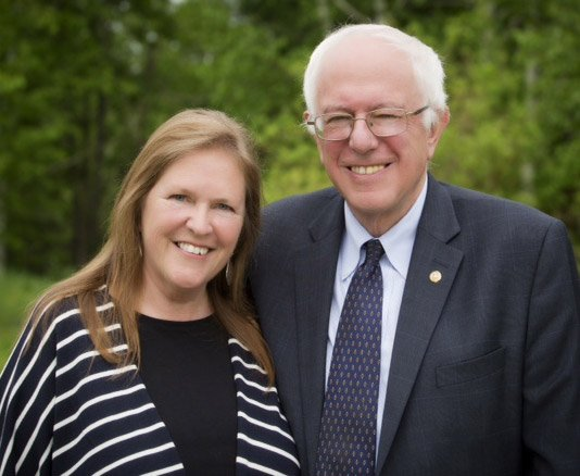 Bernie and Jane (Image by Bernie Sanders) via Pressenza