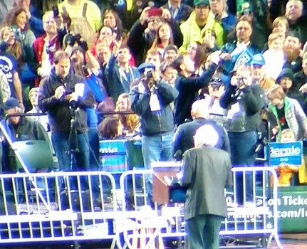 Bernie Sanders at Safeco
