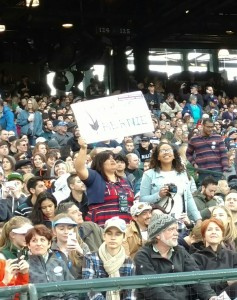 Bernie Crowd at Safeco