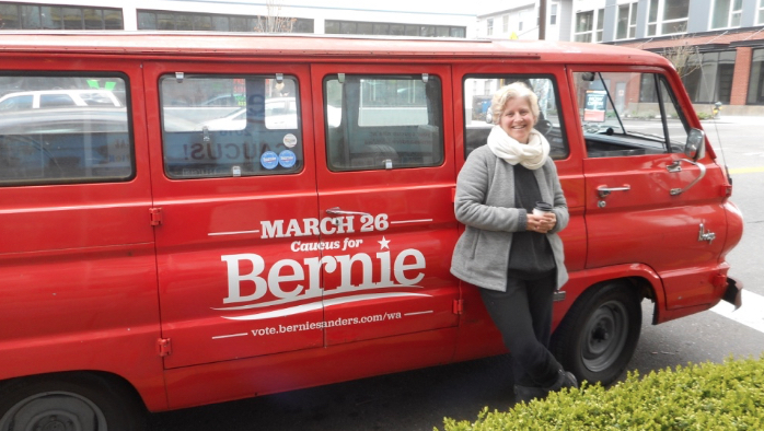 At the end of a long week, one day before Bernie swept Washington State's Caucus!