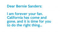California has come and gone, and we Berners did not get the victory we so desperately needed. The time has come for a tough choice to be made.